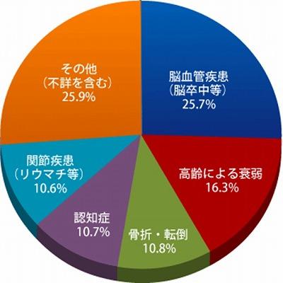 寝たきりになる主な原因 厚生労働省「国民生活基礎調査」(2004年)より